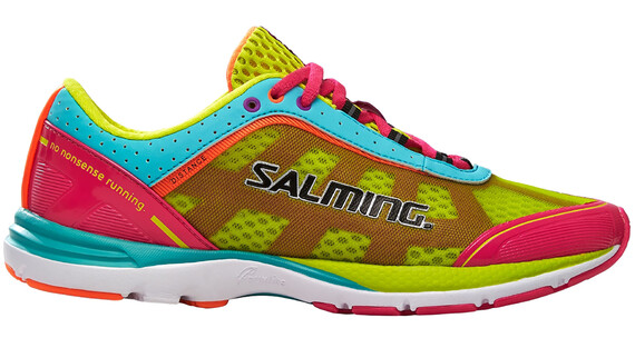 Salming W's Distance 3 Shoes Pink Glo/Turquoise